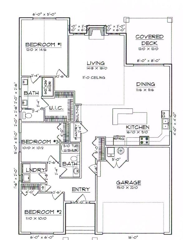 Home hultquist homes for 12x12 kitchen floor plan