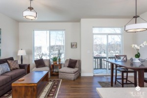 Living Room/Dining Area-  middle unit