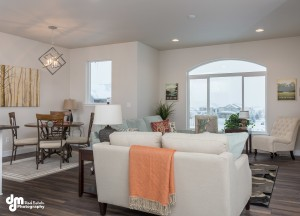 The Susitna (left unit)- Living/Dining Room