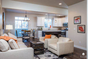 Living/Dining Area- end unit